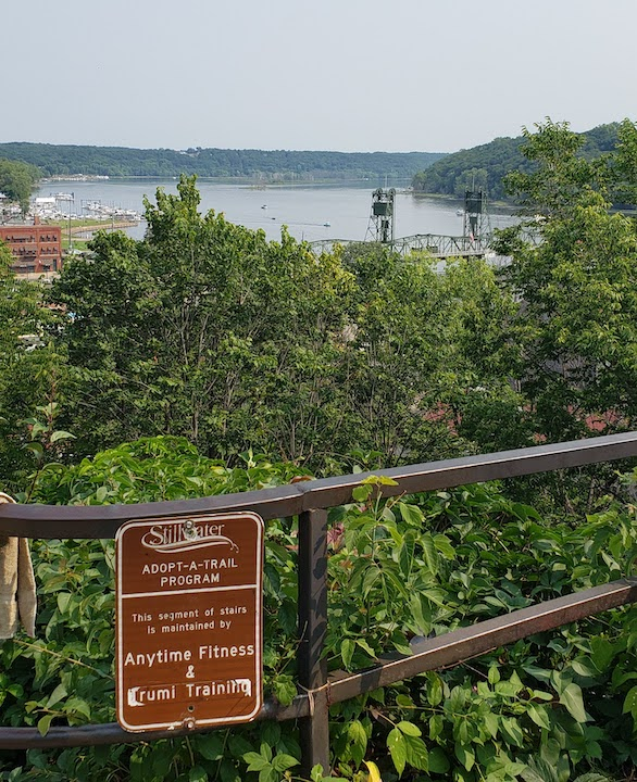 view from main street stairs, stillwater