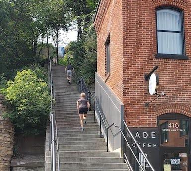 main street stairs, stillwater
