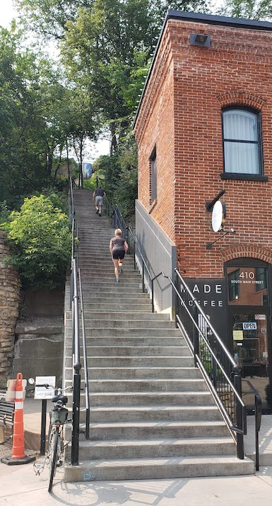 Main street stairs, stillwater historic stairs route