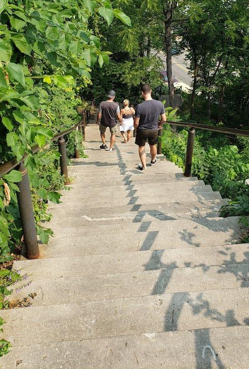 main street stairs, historic stillwater