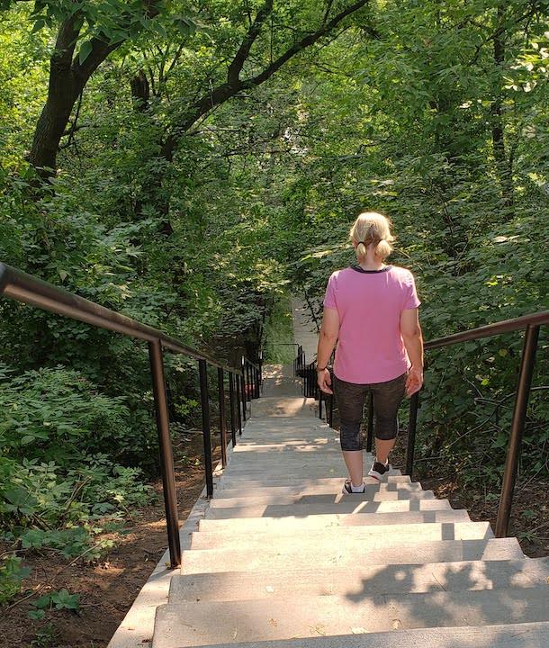 pioneer park stairs, stillwater