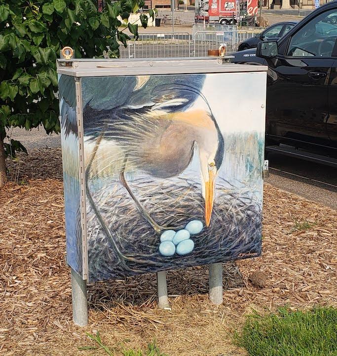 artwork pedestrian plaza